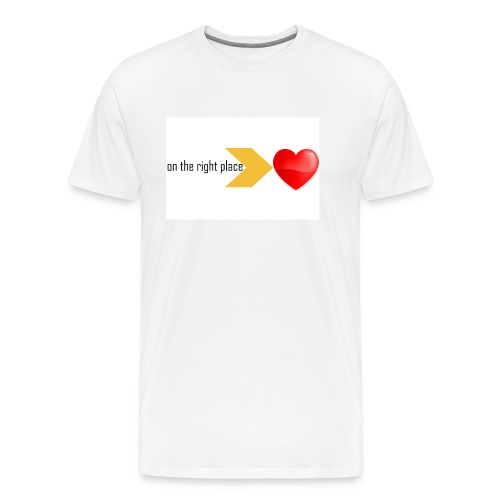 Heart on the right place - Mannen Premium T-shirt