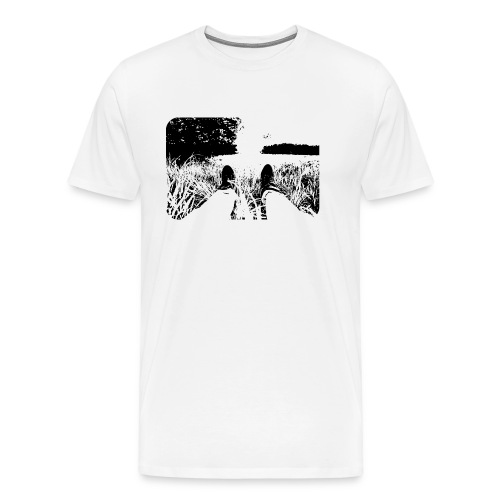 Green Grass in Black and White - Camiseta premium hombre