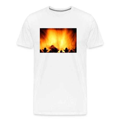 peat fire burning - Men's Premium T-Shirt