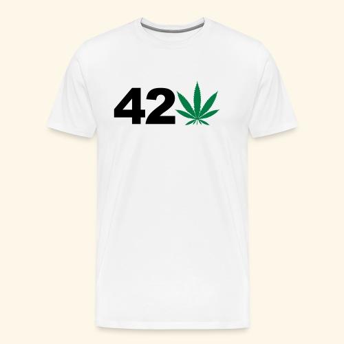 420 Hanfblatt Weed Cannabis Ganja Geschenk - Men's Premium T-Shirt