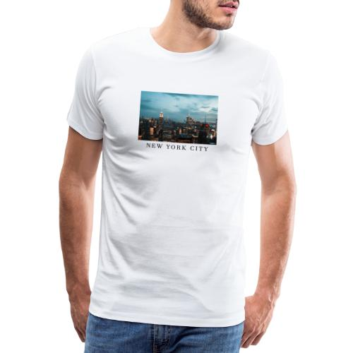 NEW YORK CITY, new york, new york photo, big city - Men's Premium T-Shirt