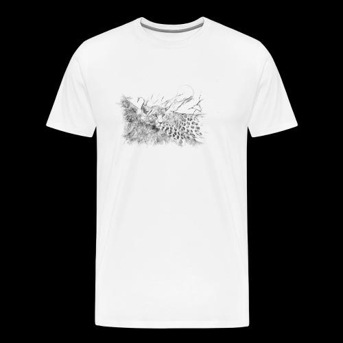 La panthère dans l'arbre - T-shirt Premium Homme
