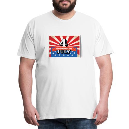 Independence Day 4 July - Camiseta premium hombre