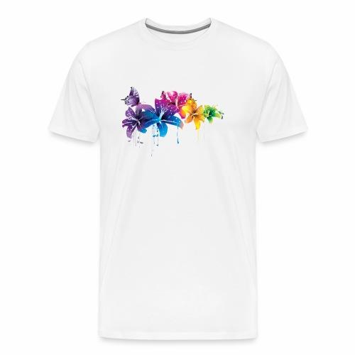 Flowers Vectors PNG - Camiseta premium hombre