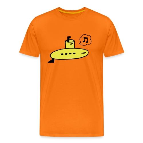 Singing Yellow Submarine - Men's Premium T-Shirt