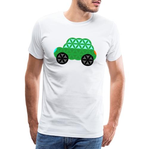 The Car Of Life - M01, Sacred Shapes, Green/363 - Men's Premium T-Shirt