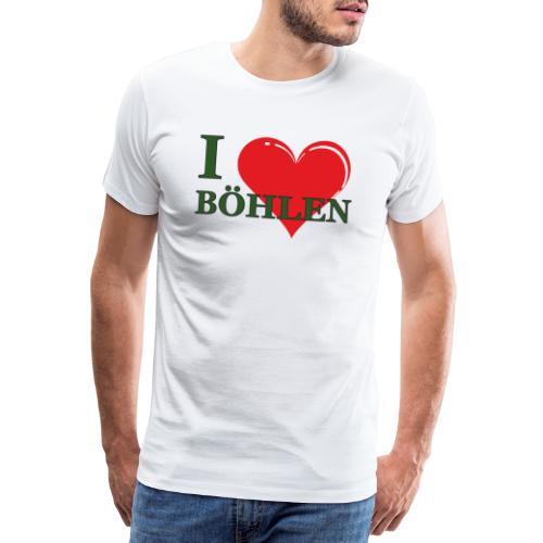 Ich liebe Böhlen. - Männer Premium T-Shirt