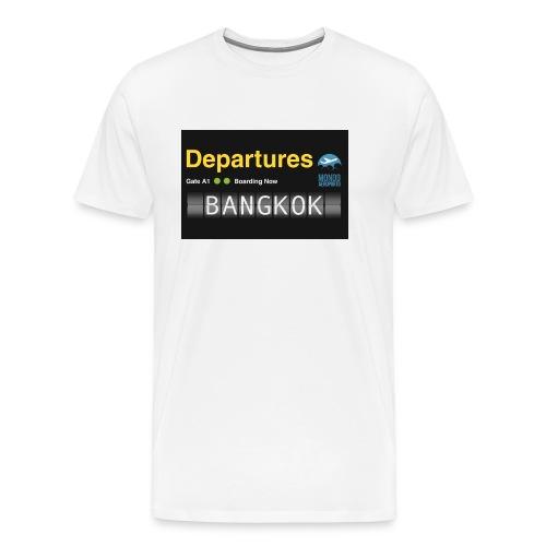 Departures BANGKOK jpg - Maglietta Premium da uomo