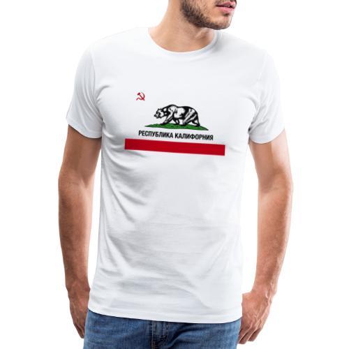 CALIFORNIA REPUBLIC | RUSSIAN CYRILLIC - Maglietta Premium da uomo