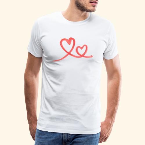 Duo Cœur Main levée - Saint Valentin - T-shirt Premium Homme
