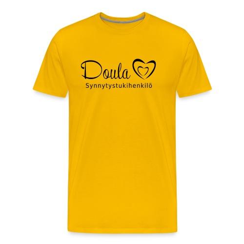 doula sydämet synnytystukihenkilö - Miesten premium t-paita