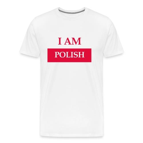 I am polish - Koszulka męska Premium