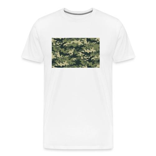 Camouflage texture vert - T-shirt Premium Homme
