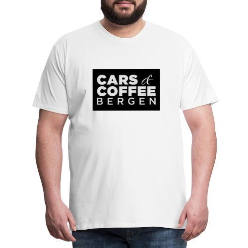 Cars & Coffee Bergen Logo_Boks - Premium T-skjorte for menn