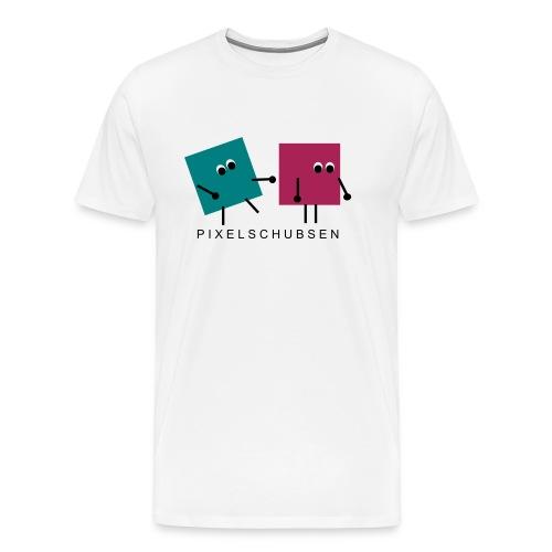 pixelschubsen - Männer Premium T-Shirt