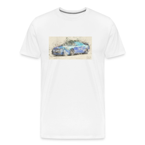GTR R34 watercolors - Männer Premium T-Shirt