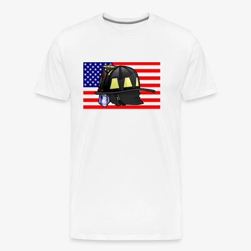 Casque pompier américain - T-shirt Premium Homme