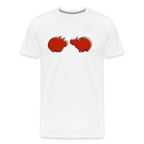 Cochons rouges - T-shirt Premium Homme