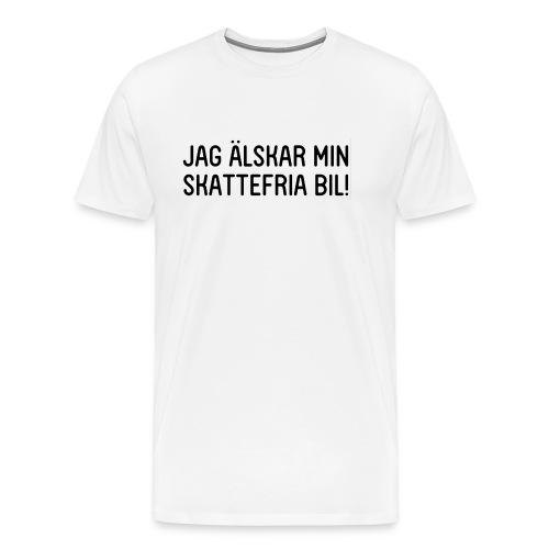 Jag älskar min skattefria bil - Premium-T-shirt herr