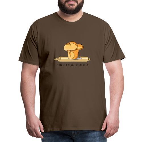 Brioche française et rouleau à patisserie - T-shirt Premium Homme