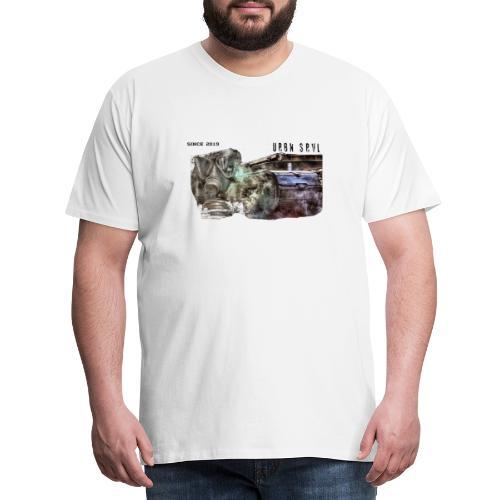 gas mask 2 black - Männer Premium T-Shirt