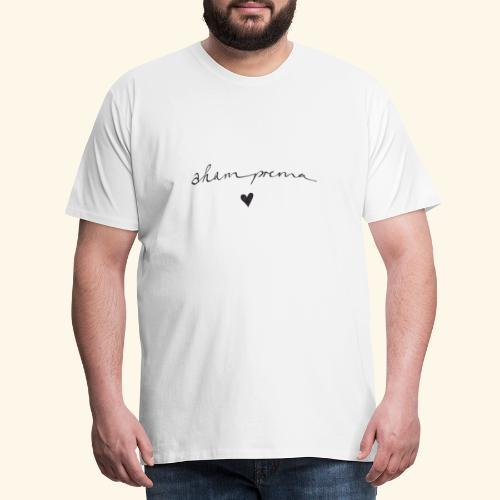 AHAM PREMA- ich bin LIEBE Geschenk YOGA SANSKRIT - Männer Premium T-Shirt