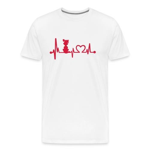 Vorschau: dog heart beat - Männer Premium T-Shirt