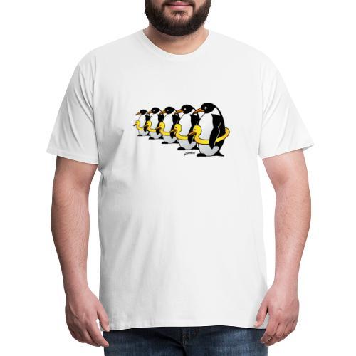 Pinguine mit Quietscheentchen - Männer Premium T-Shirt