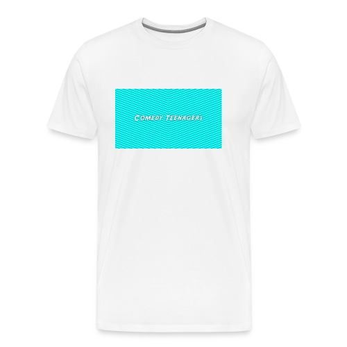 Light Blue Comedy Teenagers T Shirt - Premium-T-shirt herr