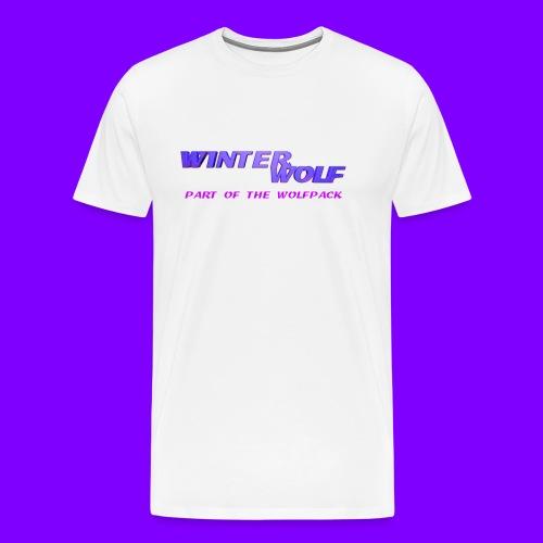 WINTERWOLF LOGO Part of The Wolfpack T-shirt - Mannen Premium T-shirt