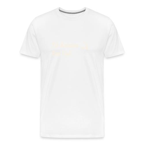 Til kvinnen fra gud, gull no border, sort hettegen - Premium T-skjorte for menn