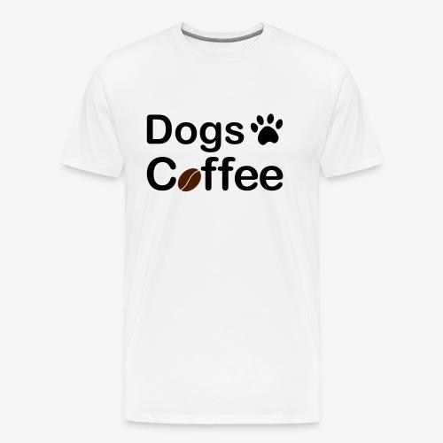 Hundar & Kaffe - Premium-T-shirt herr