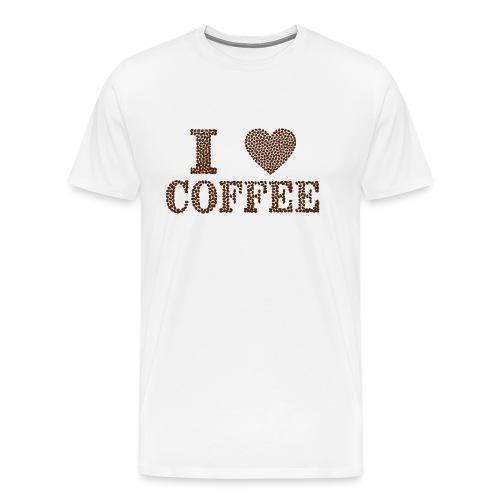 Kaffeeliebe - Love - Männer Premium T-Shirt