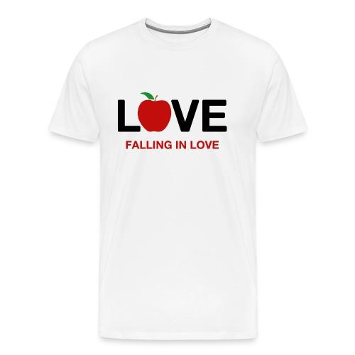 Falling in Love - Black - Men's Premium T-Shirt