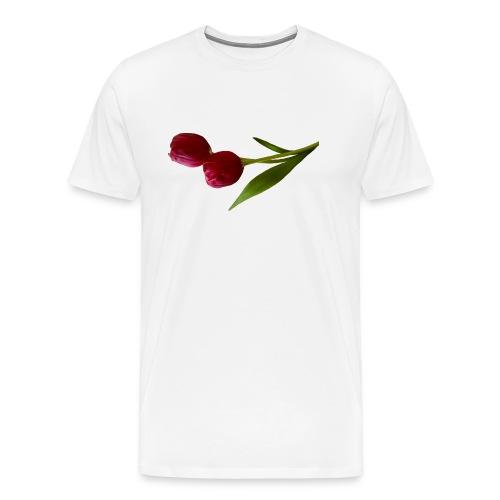 rote Tulpen - Männer Premium T-Shirt