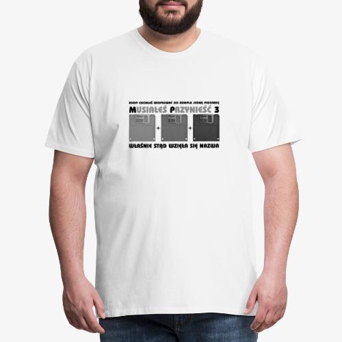 piosenka na dyskietkach - Koszulka męska Premium