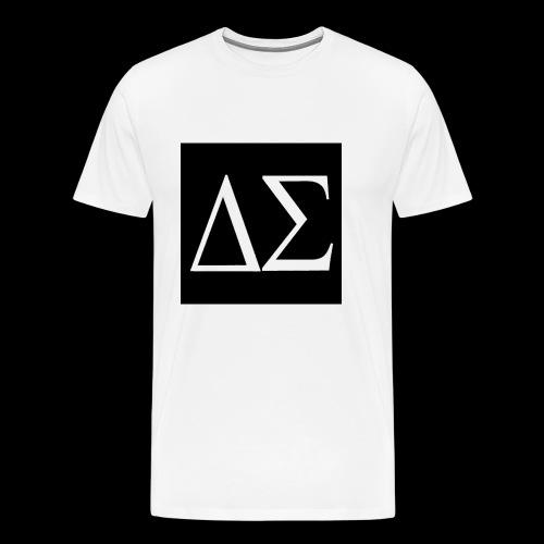 Logo blanc sur fond noir - T-shirt Premium Homme