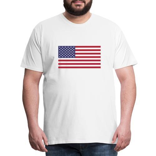 USA flagg - Premium T-skjorte for menn