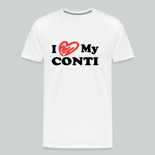 herz1_i love my conti_sch - Männer Premium T-Shirt