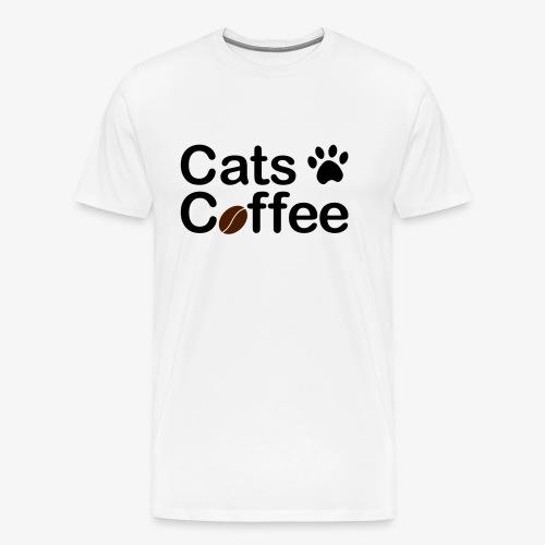 Katter & Kaffe - Premium-T-shirt herr