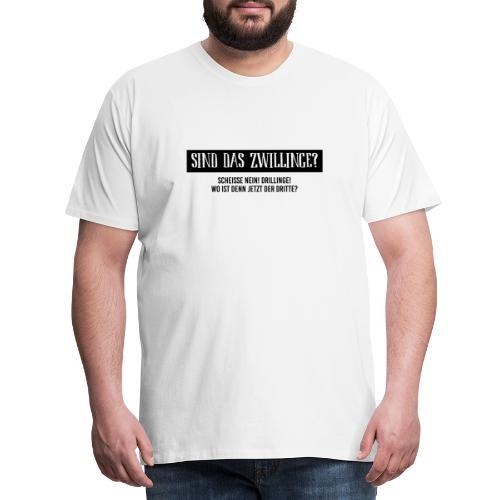 Sind das Zwillinge? - Männer Premium T-Shirt