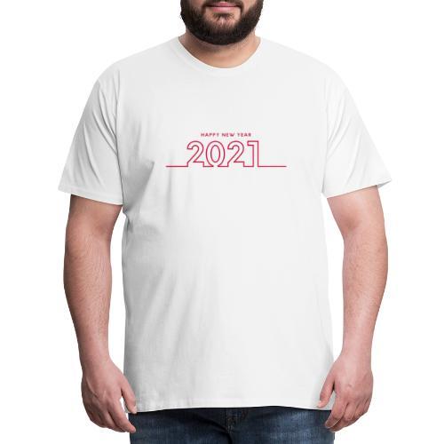 Happy New Year 2021 - Mannen Premium T-shirt