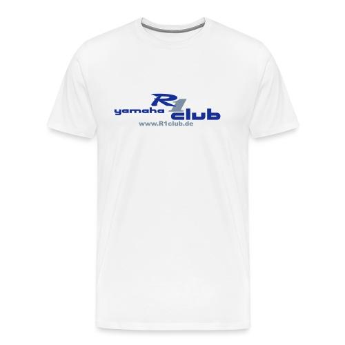 R1club Logo blau - Männer Premium T-Shirt