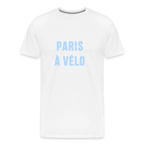 Paris à vélo - T-shirt Premium Homme
