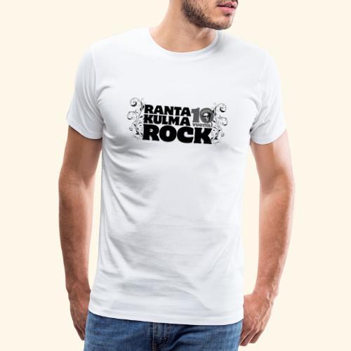 Rantakulmarock 10-vuotta - Miesten premium t-paita