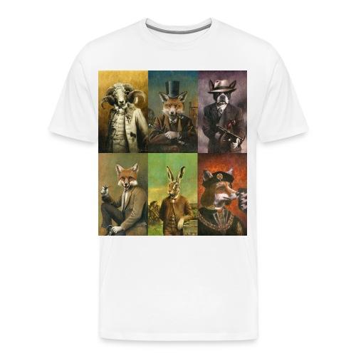 Vintage Animals In Clothes - Men's Premium T-Shirt