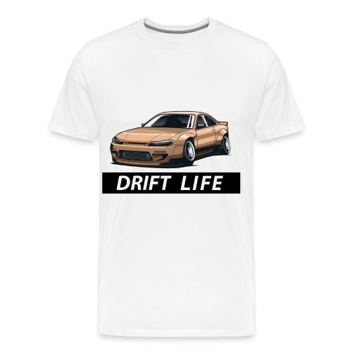 Vida Drift Tuneo Derrape Silvia s14 drift jdm - Camiseta premium hombre