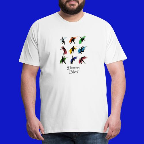 dancing colors - Camiseta premium hombre