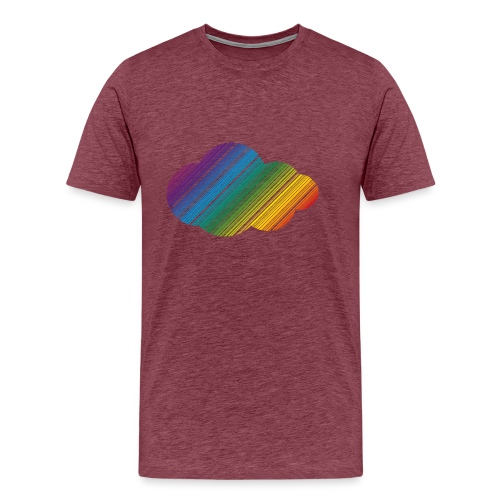 Regnbågsmoln - Premium-T-shirt herr