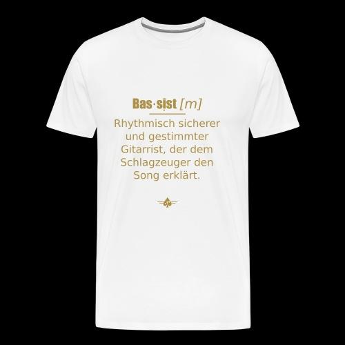 Bassist (m) - Männer Premium T-Shirt